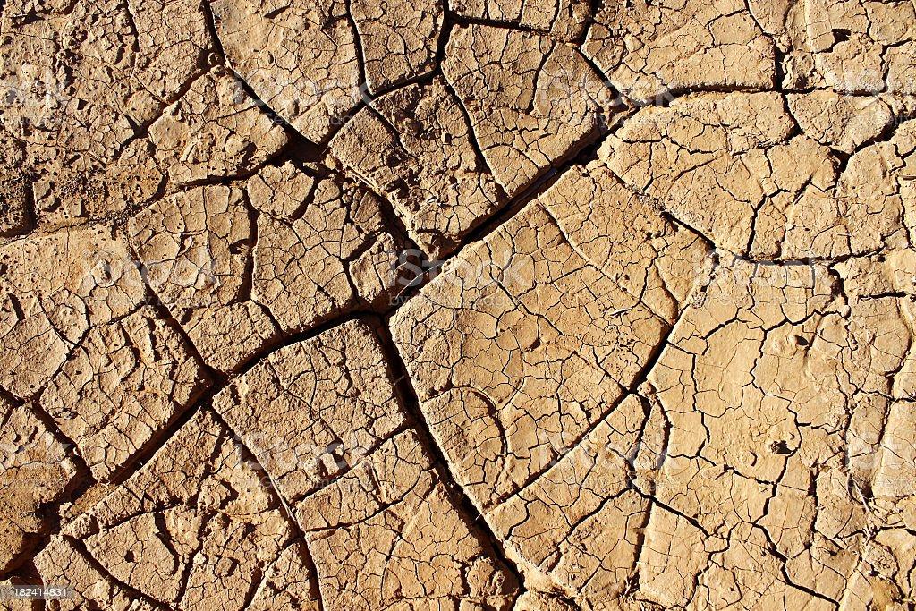 Cracked dry soil royalty-free stock photo