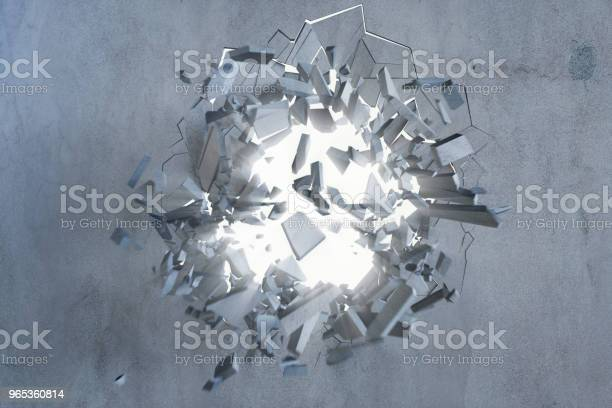 Cracked Earth Abstract Background With Volume Light Rays Cracked Concrete Earth Abstract Background 3d Rendering Stock Photo - Download Image Now
