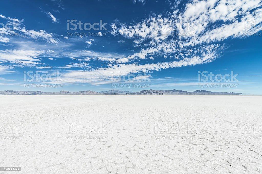 Cracked Earth Bonneville Salt Flats stock photo