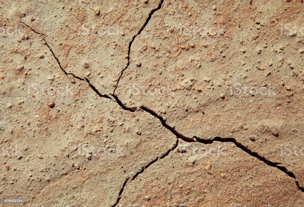 Cracked earth close-up royalty-free stock photo