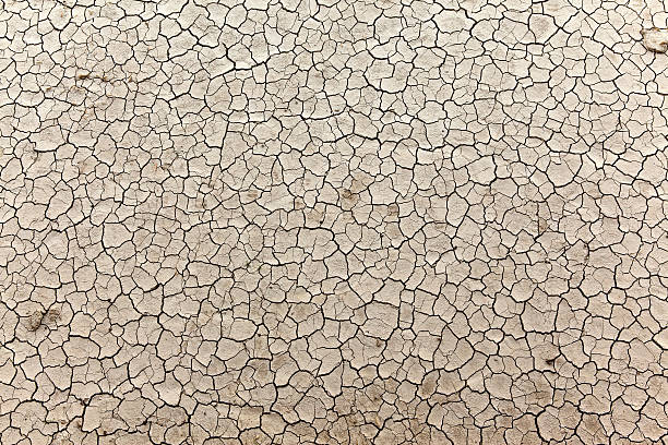 Cracked Earth Close up view of of a dry lake surface lake bed stock pictures, royalty-free photos & images