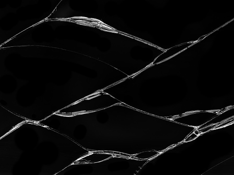Cracked Glass Texture On Black Background Stock Photo ...