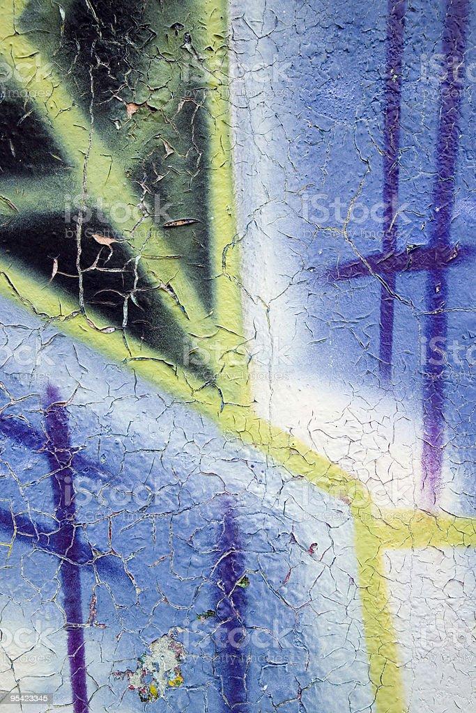Cracked grafitti wall texture royalty-free stock photo