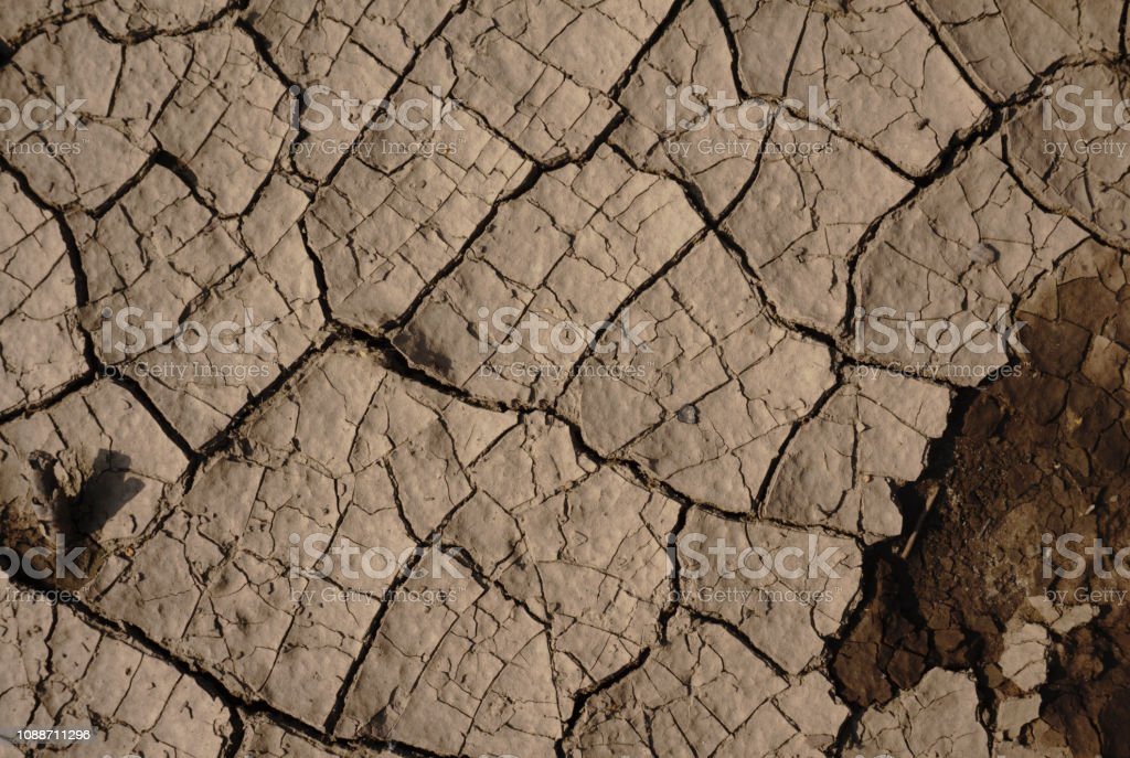Cracked ground textures drought