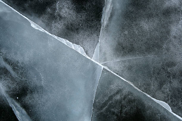 Cracked ice abstract background stock photo