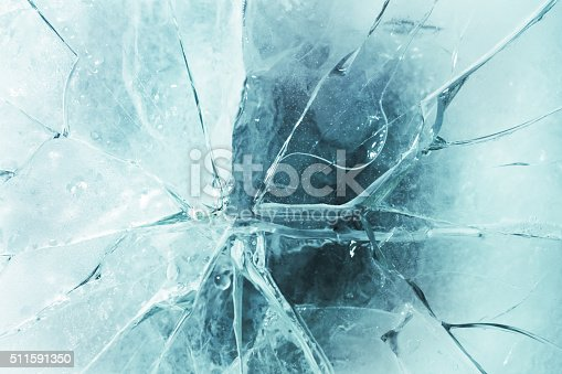 Close-up of cracked ice.