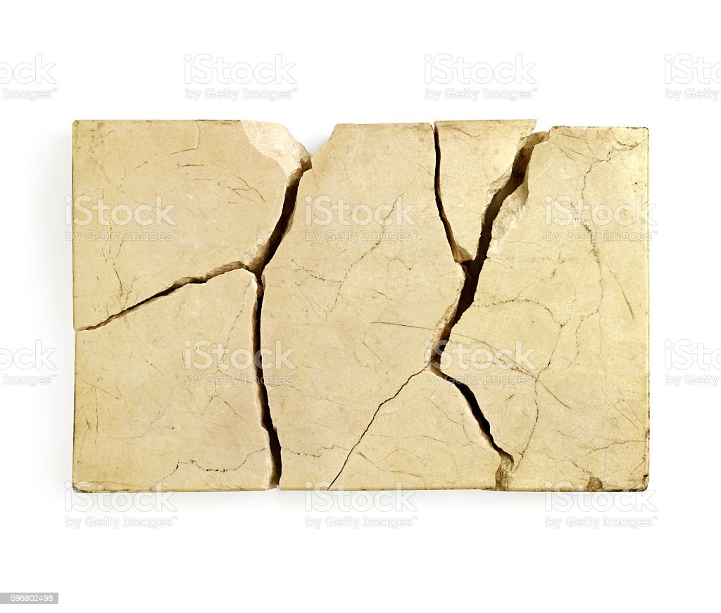 Cracked marble stock photo