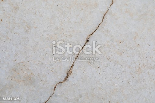 Cracked marble surface