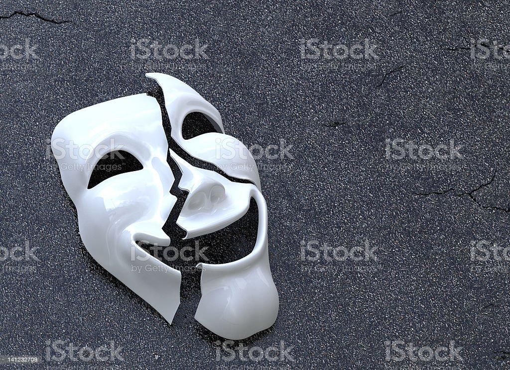 Cracked Mask stock photo