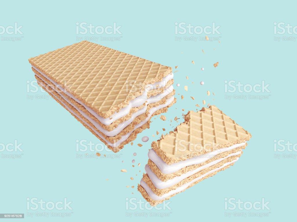 Cracked Milk wafer flavor stock photo