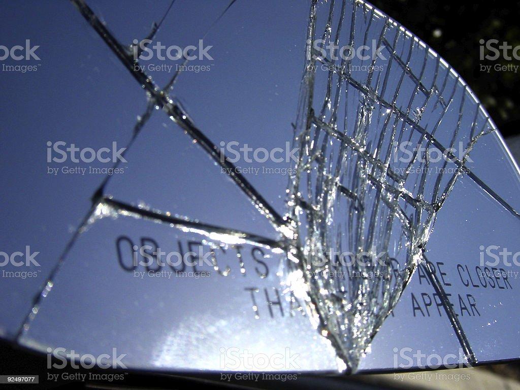 cracked mirror royalty-free stock photo