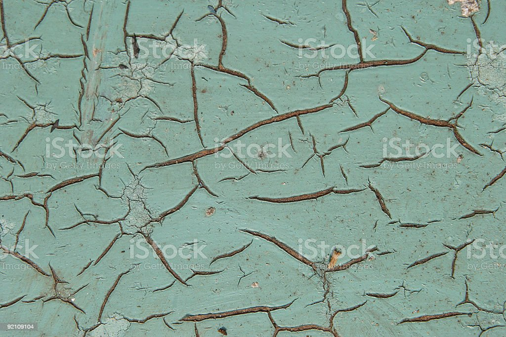 Cracked Paint royalty-free stock photo