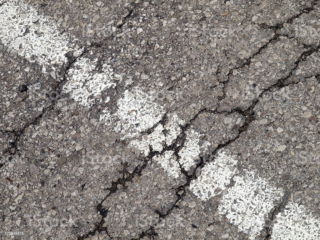 Cracked Parking Lot royalty-free stock photo
