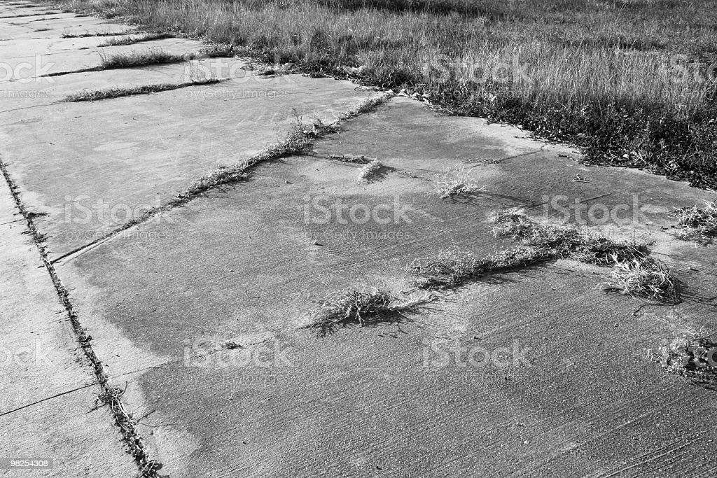 Cracked Pavement royalty-free stock photo