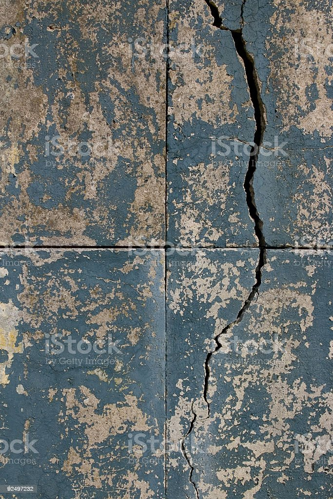 Cracked & Peeling royalty-free stock photo
