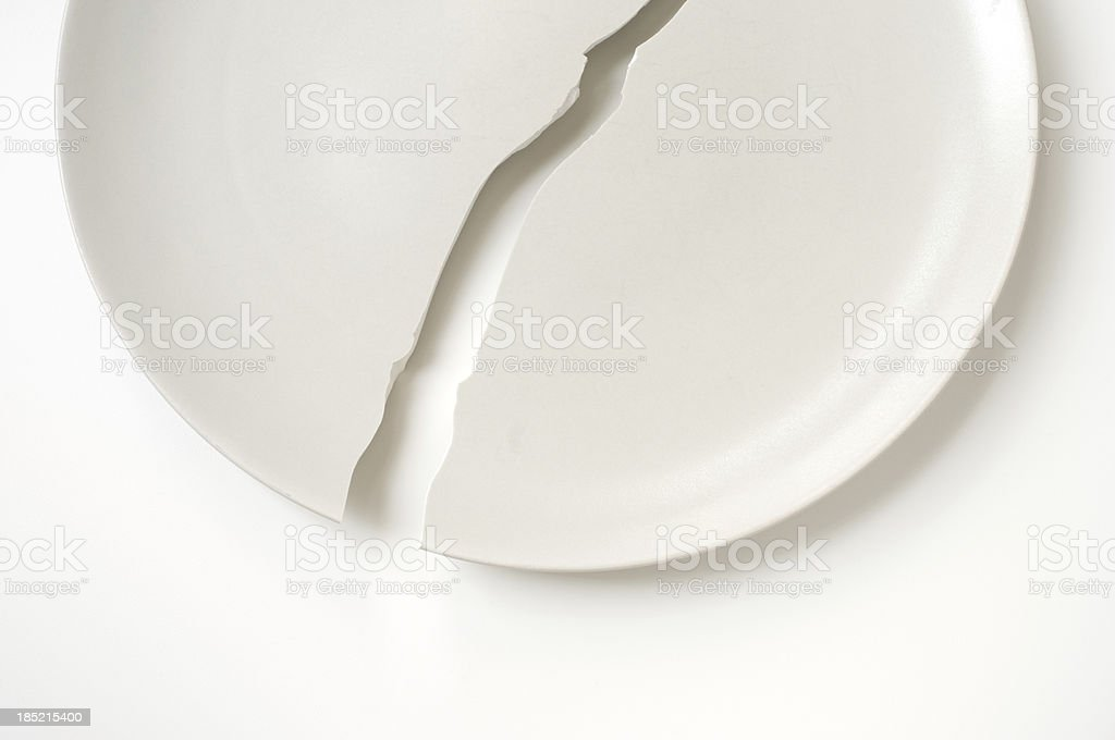 Cracked plate stock photo