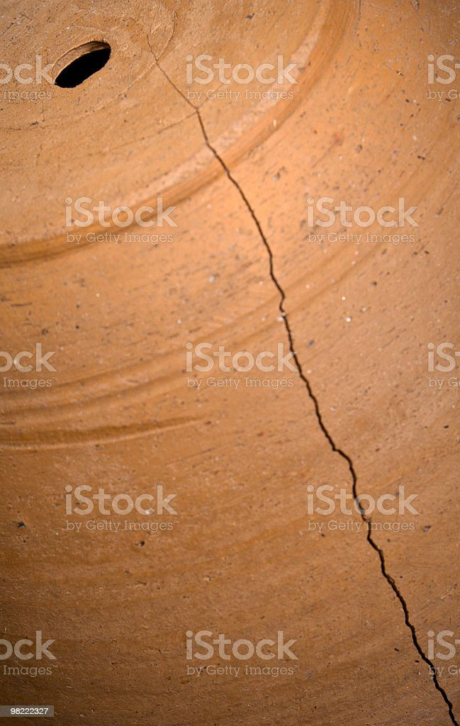 Cracked Pot royalty-free stock photo