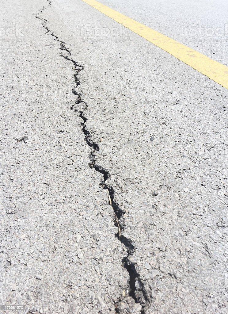 cracked road royalty-free stock photo