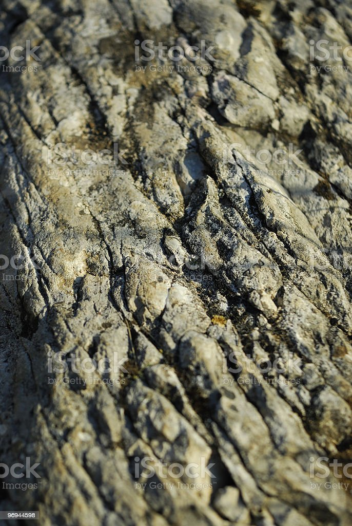 Cracked rock face royalty-free stock photo