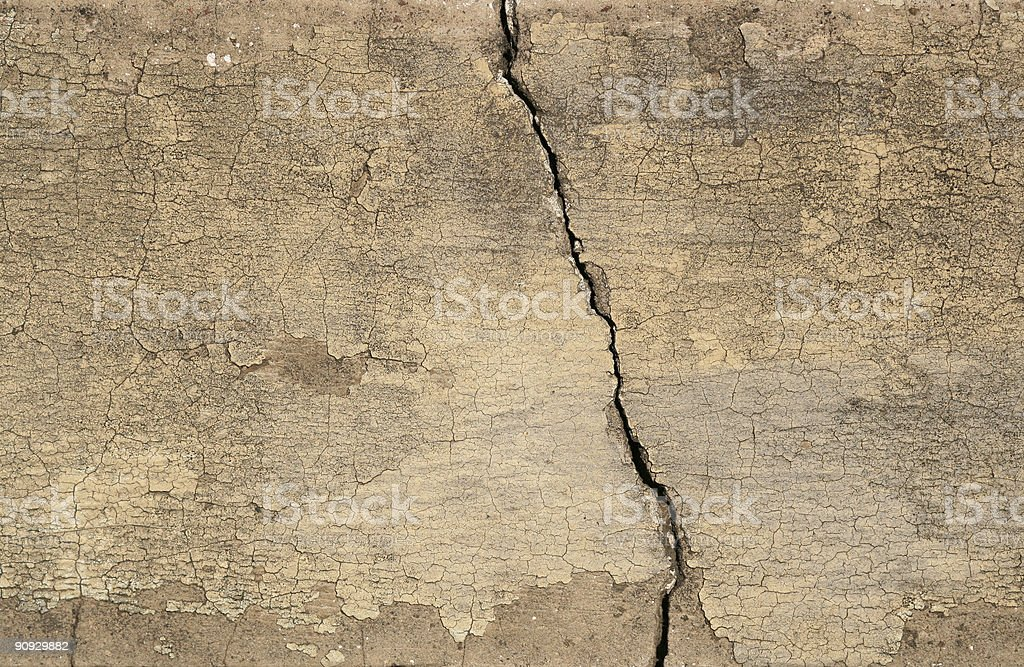 Cracked Roman wall texture royalty-free stock photo