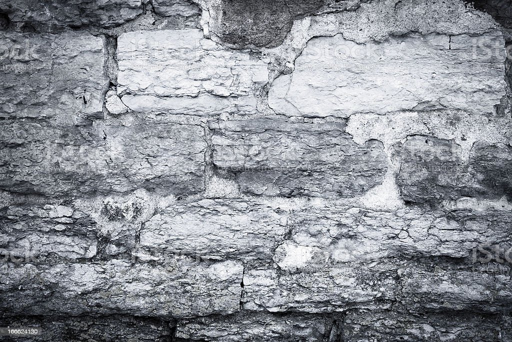 cracked scratched plaster stone wall royalty-free stock photo