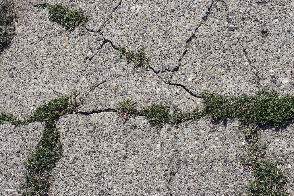 Cracked sidewalk royalty-free stock photo