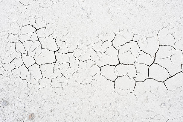 Cracked soil Detail of cracked clay soil texture. eroded stock pictures, royalty-free photos & images