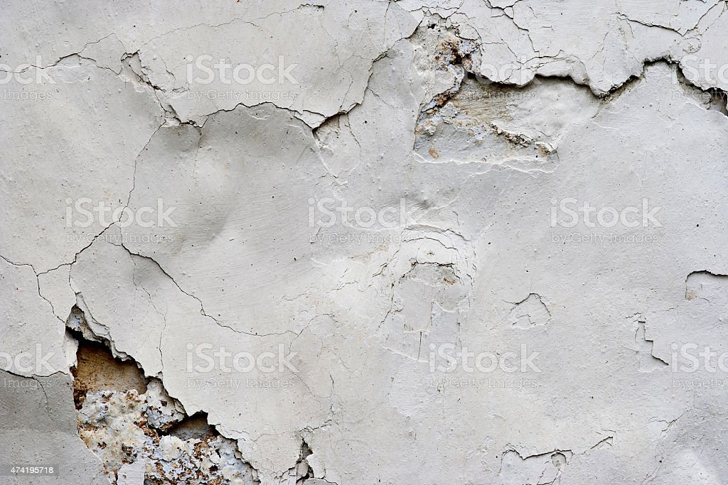 Cracked Stucco - Grunge Background stock photo