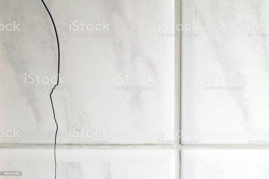 Cracked tiles royalty-free stock photo