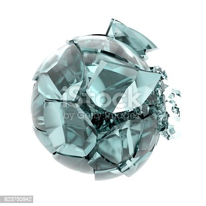 521301688 istock photo cracked transparent glass ball 623750942