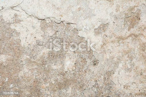 700531402 istock photo Cracked vintage wall background, old surface wall 700528744