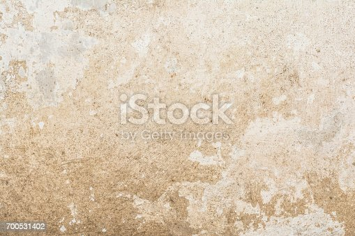 istock Cracked vintage wall background, old surface wall 700531402