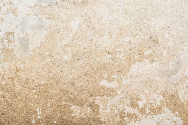 cracked vintage wall background, old surface wall - mud stock photos and pictures