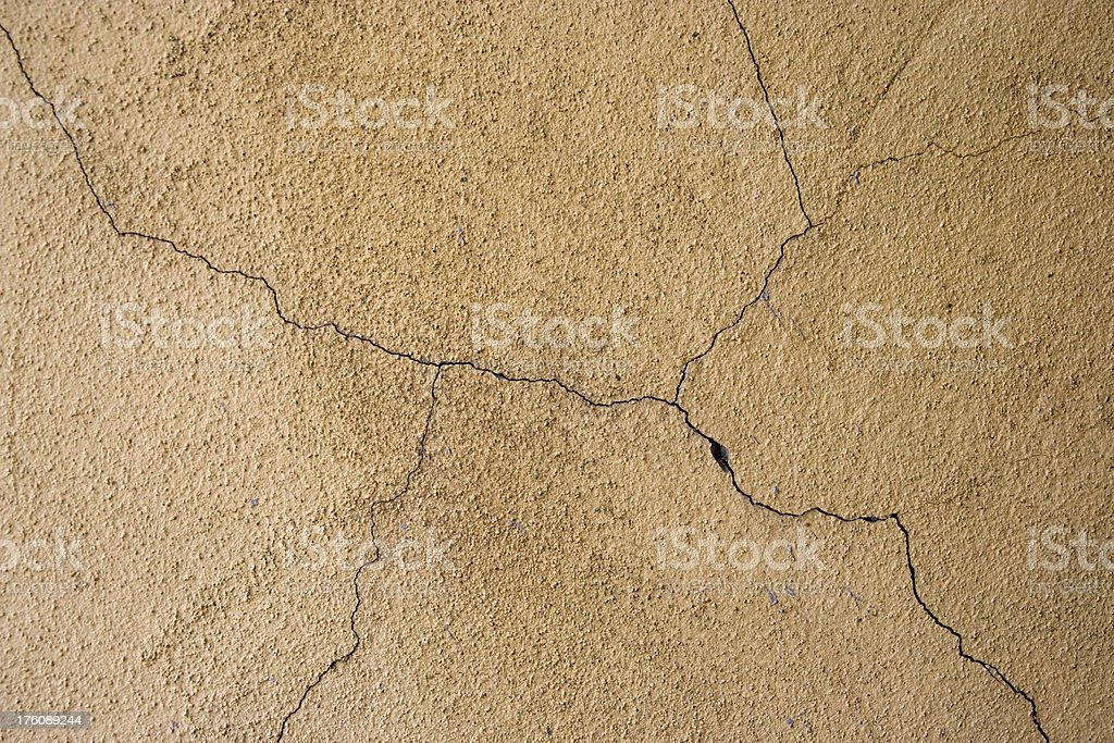 Cracked wall background royalty-free stock photo