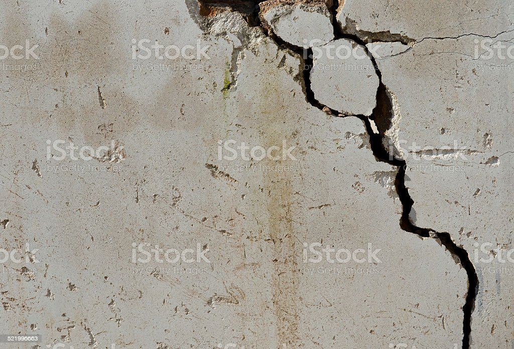 cracked wall stock photo