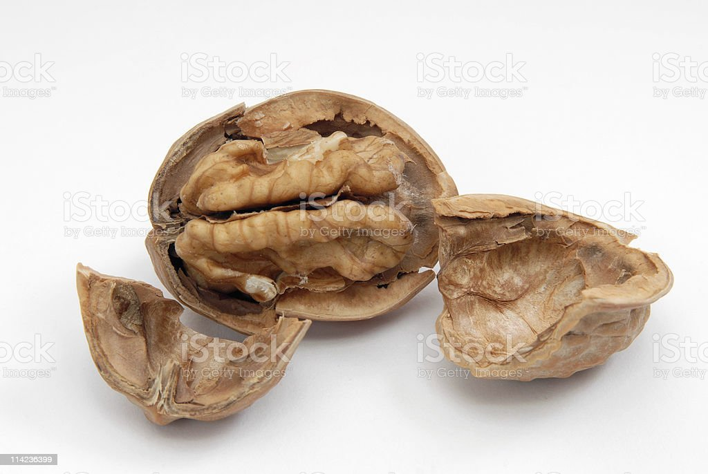 cracked walnut royalty-free stock photo