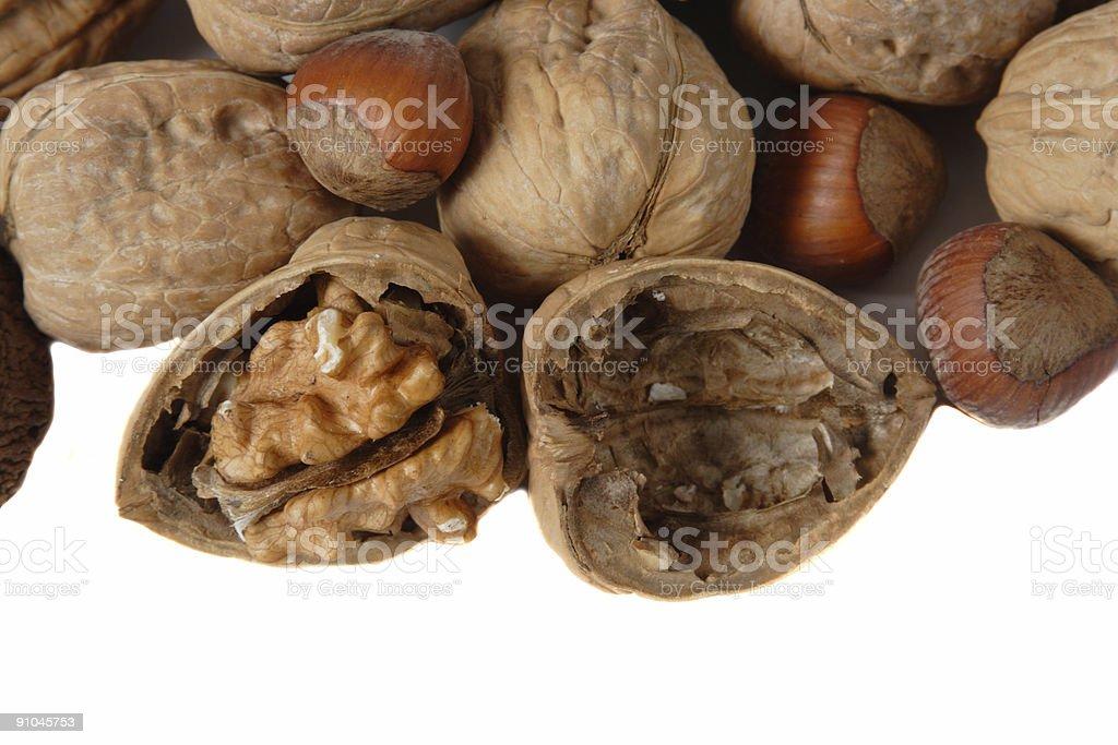 Cracked Walnut royalty-free stock photo