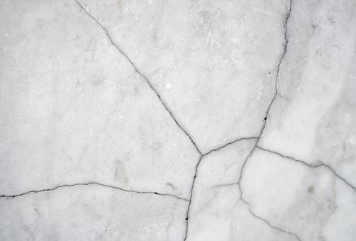 Cracked white marble