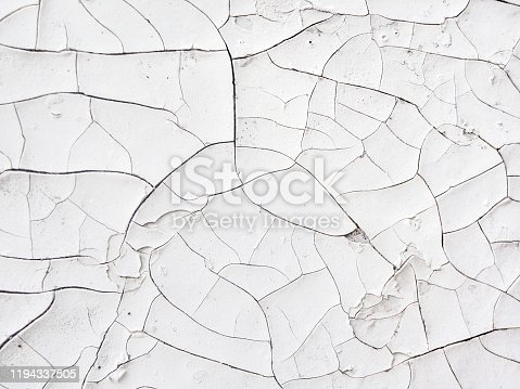 Old cracked white painted surface, vintage background