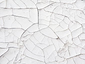 istock Cracked white painted surface, vintage background 1194337505