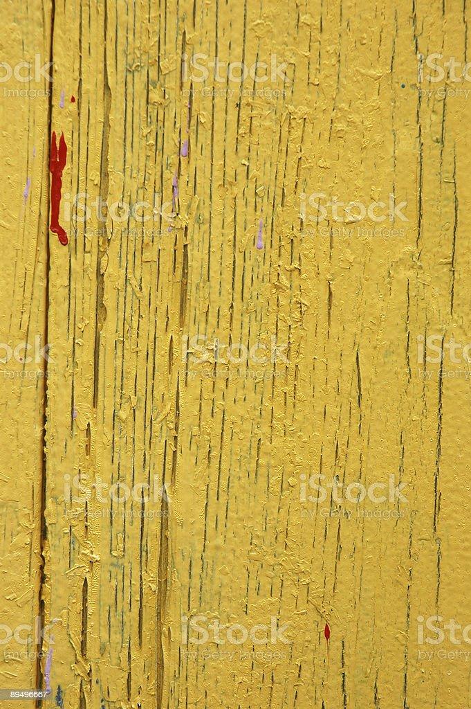 Pęknięty Żółta Farba zbiór zdjęć royalty-free