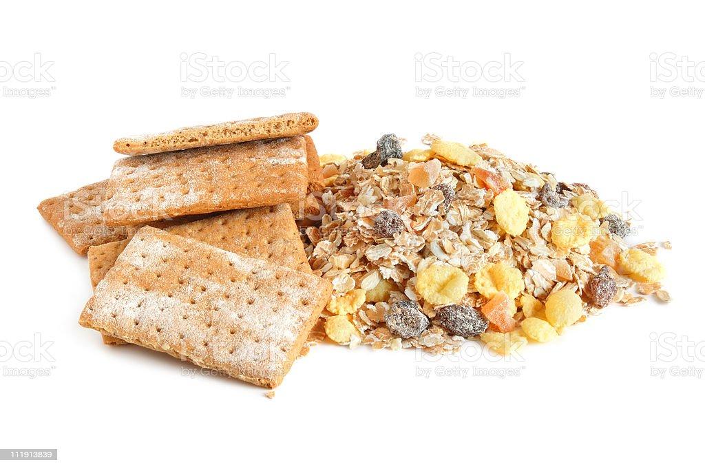 Cracker and muesli royalty-free stock photo