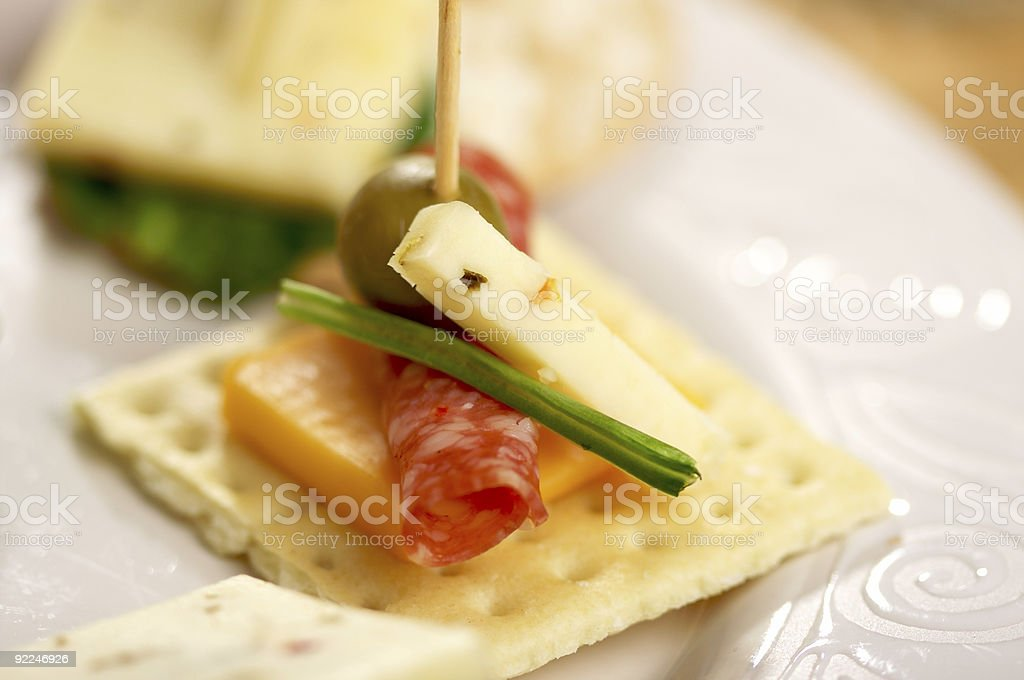 Cracker Appetizers royalty-free stock photo
