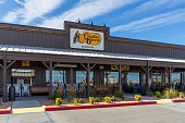 Victorville, CA / USA – February 11, 2020: Cracker Barrel Old Country Store located in Victorville, California, adjacent to Interstate 15.
