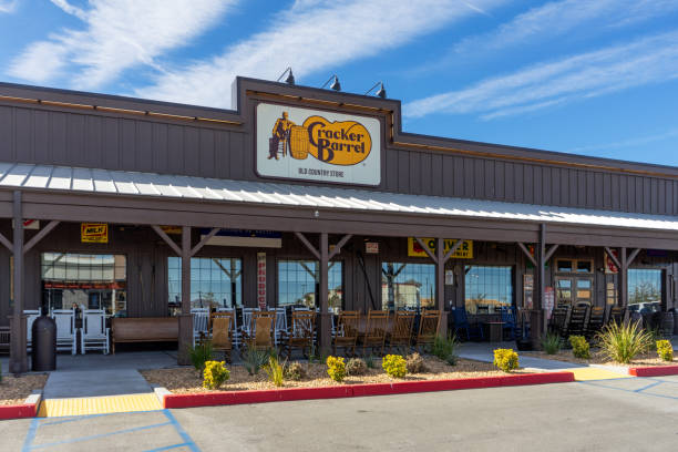 Cracker Barrel Old Country Store restaurant in Victorville, CA stock photo