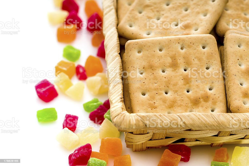 Cracker biscuits stock photo
