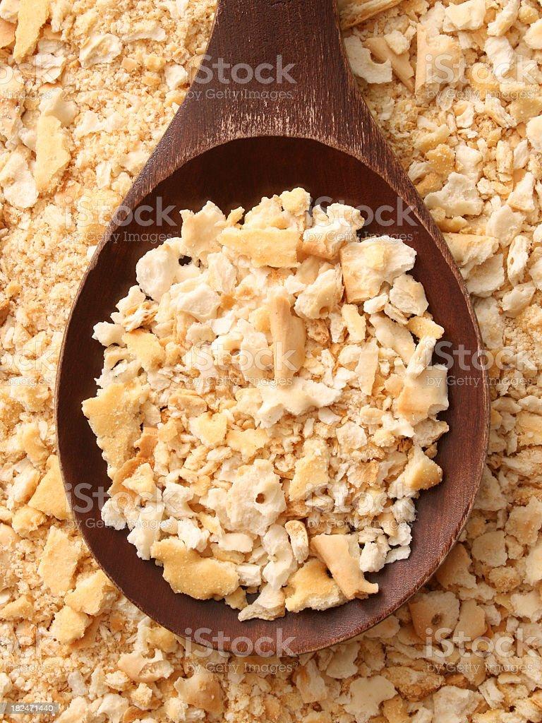 Cracker crumbs stock photo