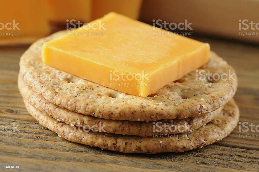 Crackers and cheese royalty-free stock photo