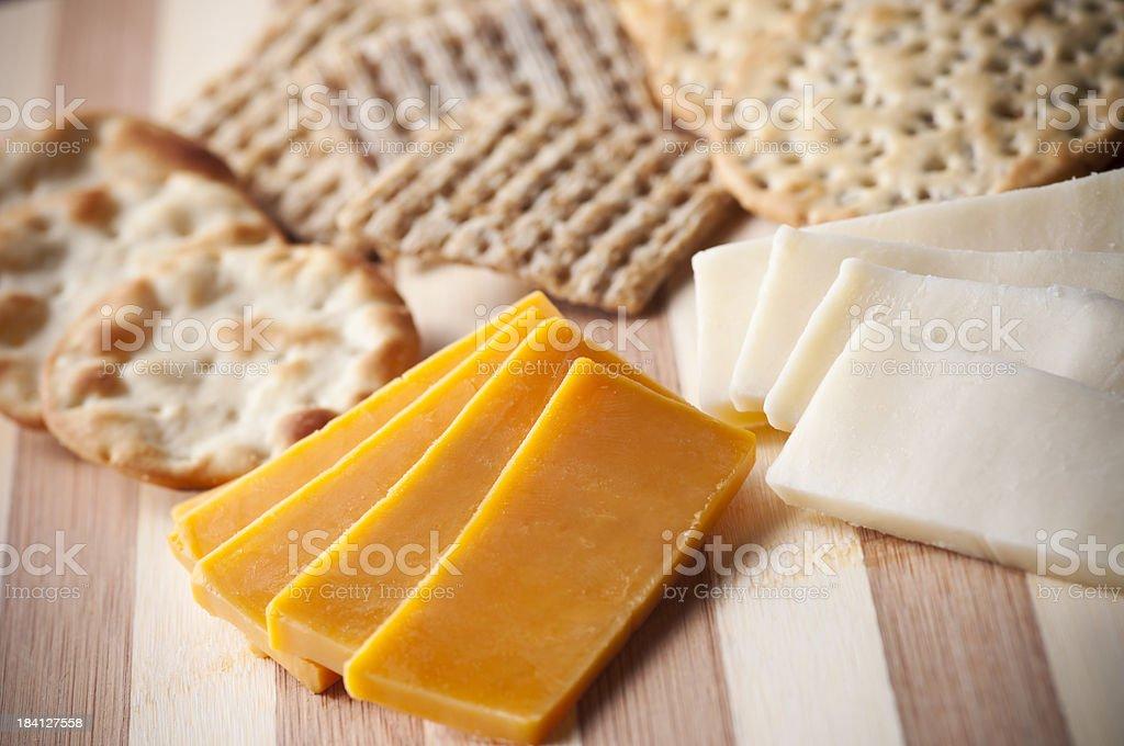 Crackers Cheese stock photo