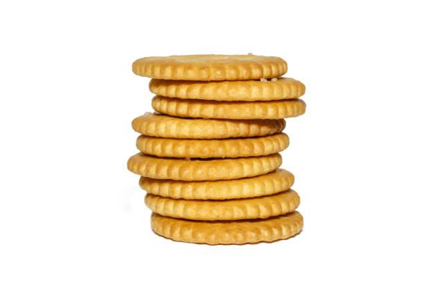 白色背景上的餅乾 - 克力架 個照片及圖片檔